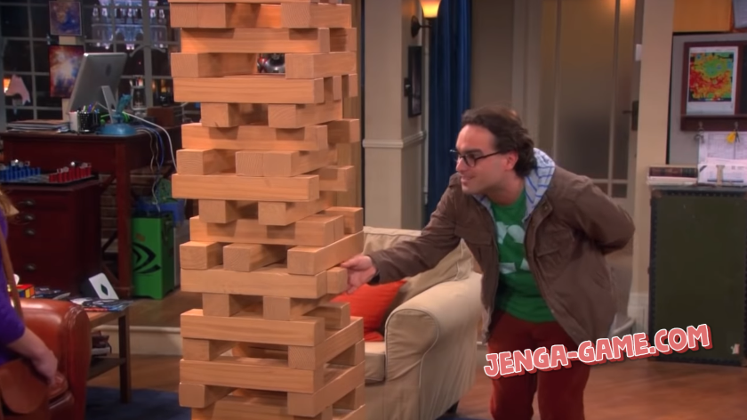 Jenga in Big Bang Theory