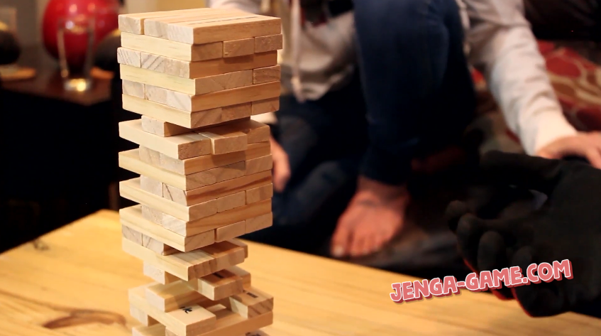 Drinking Jenga Party with Friends