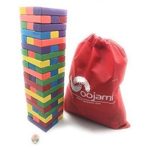 Oojami Wooden Toppling Tumbling Stacking Tower Board Games